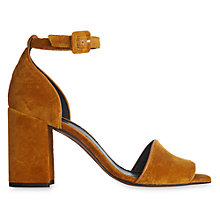 Buy Whistles Hedda Block Heeled Sandals, Yellow Online at johnlewis.com