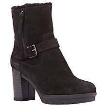 Buy Geox Abrienne Block Heeled Ankle Boots, Black Suede Online at johnlewis.com