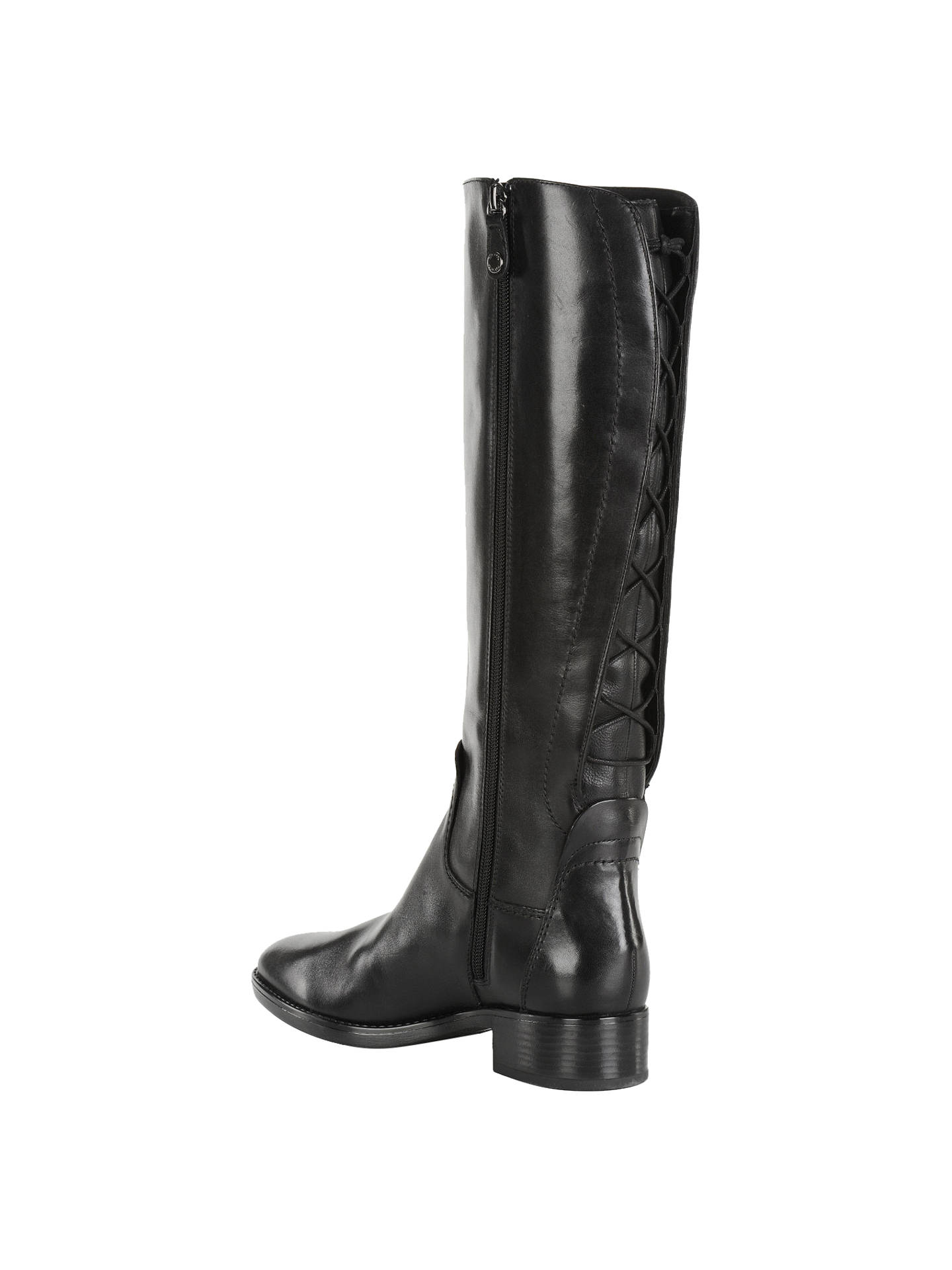 fb52357611c Geox Felicity Knee High Boots, Black at John Lewis & Partners
