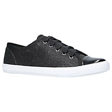 Buy Carvela Jasper 2 Glitter Trainers, Black Online at johnlewis.com