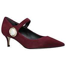 Buy Carvela Argonite Pointed Toe Court Shoes, Wine Suede Online at johnlewis.com