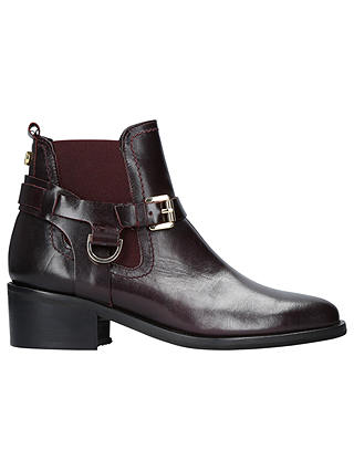 Buy Carvela Saddle Twin Buckle Ankle Boots, Wine Leather, 7 Online at johnlewis.com
