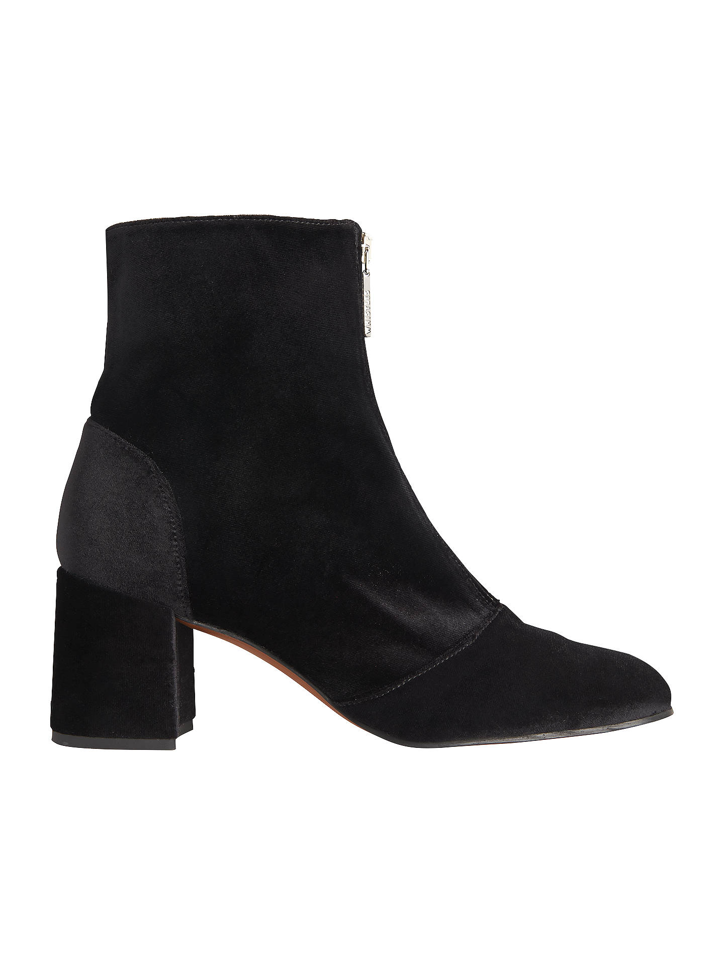 BuyWhistles Rowan Zip Front Ankle Boots, Black, 8 Online at johnlewis.com