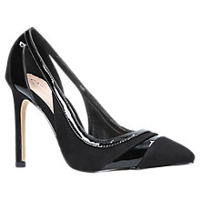 Buy Carvela Krest Cut Out Stiletto Heeled Court Shoes, Black Online at johnlewis.com