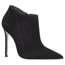Buy Carvela Sandy Pointed Toe Stiletto Heeled Ankle Boots, Black Suede Online at johnlewis.com
