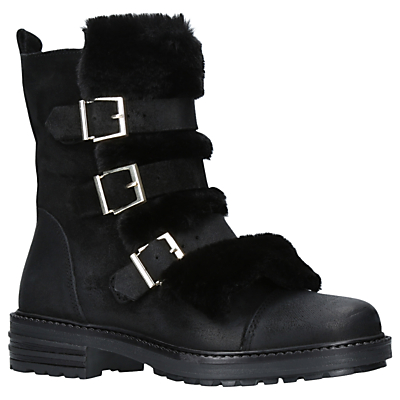 KG by Kurt Geiger Sink Buckle Ankle Boots, Black