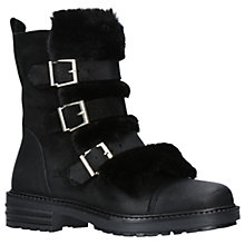 Buy KG by Kurt Geiger Sink Buckle Ankle Boots, Black Online at johnlewis.com
