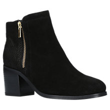 Buy Carvela Sabel Block Heeled Ankle Boots, Black Suede Online at johnlewis.com