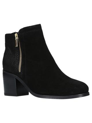 Carvela Sabel Block Heeled Ankle Boots, Black Suede