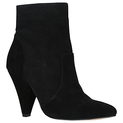 KG by Kurt Geiger Skylife Cone Heeled Ankle Boots, Black Suede