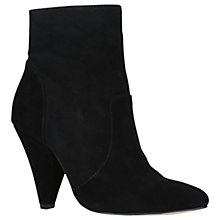 Buy KG by Kurt Geiger Skylife Cone Heeled Ankle Boots, Black Suede Online at johnlewis.com