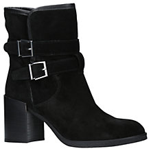 Buy KG by Kurt Geiger Buckle Block Heeled Ankle Boots, Black Suede Online at johnlewis.com