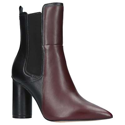 KG by Kurt Geiger Siren Pointed Toe Ankle Boots, Red Wine