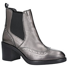 Buy Carvela Slow Down Block Heeled Ankle Boots, Gunmetal Online at johnlewis.com