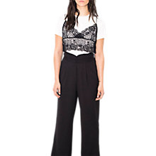 Buy Wild Pony High Waisted Trousers, Black Online at johnlewis.com