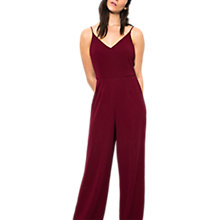 Buy Wild Pony One Piece Wide Leg Jumpsuit, Bordeaux Online at johnlewis.com