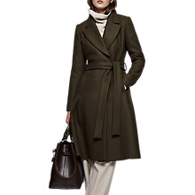 Buy Reiss Halle Fit And Flare Coat, Khaki Online at johnlewis.com