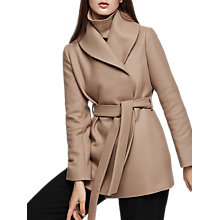 Buy Reiss Meena Short Wrap Collar Coat, Camel Online at johnlewis.com