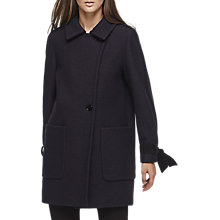Buy Reiss Aysha Wool Tie Sleeve Coat, Night Navy Online at johnlewis.com