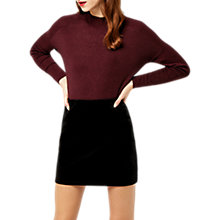 Buy Warehouse Velvet Pelmet Skirt, Black Online at johnlewis.com