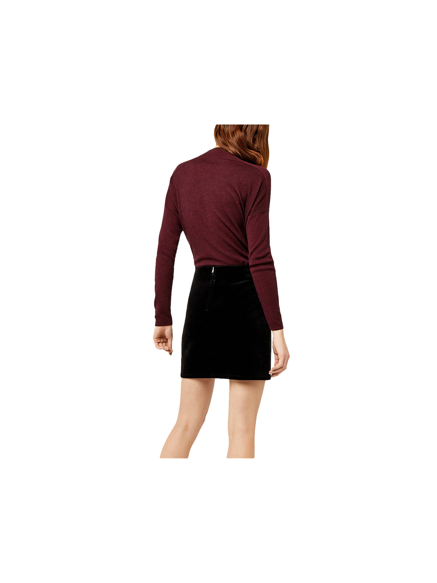 9f89cb788 ... Buy Warehouse Velvet Pelmet Skirt, Black, 6 Online at johnlewis.com ...