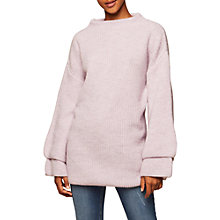 Buy Miss Selfridge Double Sleeve Tunic Dress, Lilac Online at johnlewis.com