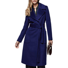 Buy Reiss Chiltern Longline Wool Coat, Indigo Online at johnlewis.com