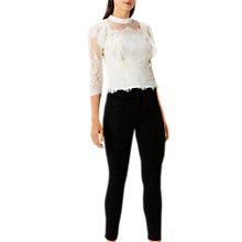 Buy Coast Victoriana Lace Blouse, Ivory Online at johnlewis.com