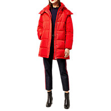 Buy Warehouse Padded Bubble Coat, Red Online at johnlewis.com