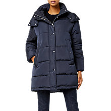 Buy Warehouse Padded Bubble Coat, Navy Online at johnlewis.com
