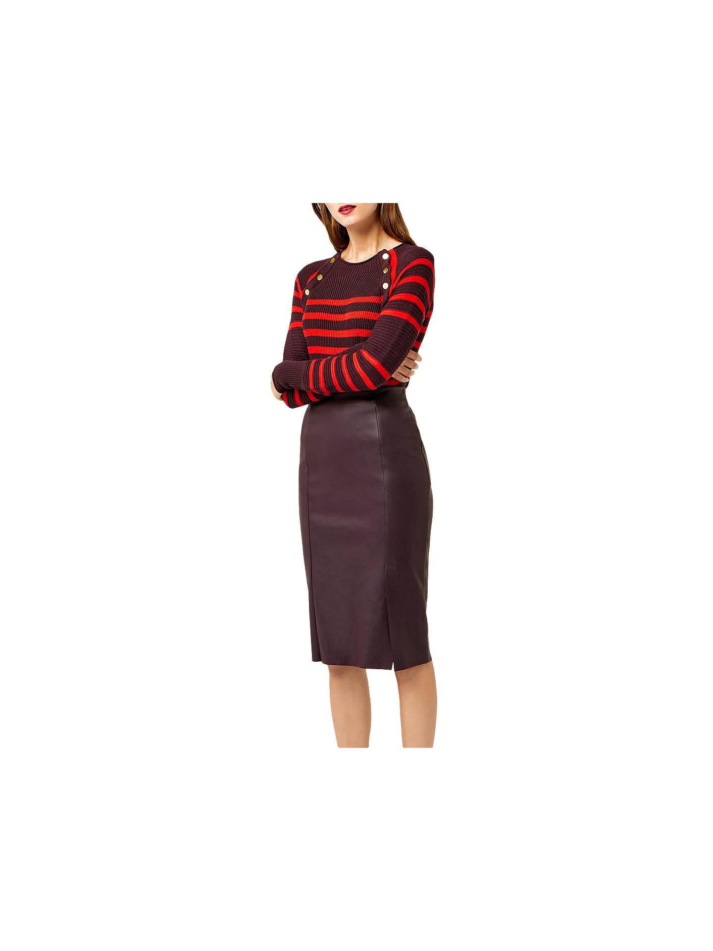 d5da94964 Warehouse Dark Red Faux Leather Skirt - raveitsafe