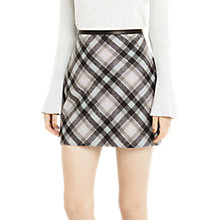 Buy Oasis Minimal Mint Check Marley Skirt, Multi Online at johnlewis.com
