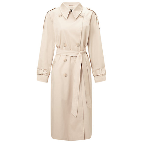 Buy Miss Selfridge Oversized Long Sleeve Trench Mac, Stone Online at johnlewis.com