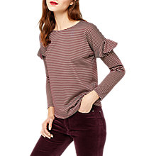 Buy Warehouse Frill Long Sleeve Top Online at johnlewis.com