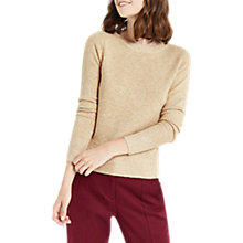 Buy Oasis Metallic Perfect Crew Jumper, Mid Neutral Online at johnlewis.com