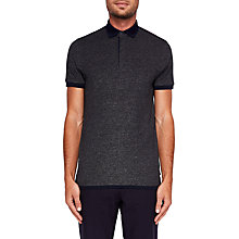 Buy Ted Baker Danby Polo Shirt, Charcoal Online at johnlewis.com
