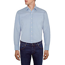 Buy Hackett London Price Of Wales Shirt, Sky/White Online at johnlewis.com