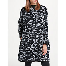 Buy PATTERNITY + John Lewis Flow Print Boxy Dress, Black/White Online at johnlewis.com