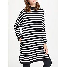 Buy PATTERNITY + John Lewis Striped Boxy Dress, Black/White Online at johnlewis.com