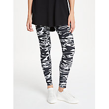 Buy PATTERNITY + John Lewis Flow Print Leggings, Black/White Online at johnlewis.com