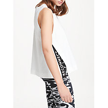 Buy PATTERNITY + John Lewis Split Side Vest Top, White Online at johnlewis.com