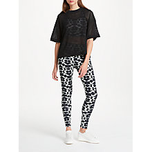 Buy PATTERNITY + John Lewis Signature Print Long Length Leggings, Aqua/Black Online at johnlewis.com