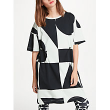 Buy PATTERNITY + John Lewis Oversized Print Drawcord Dress, Aqua/Black Online at johnlewis.com