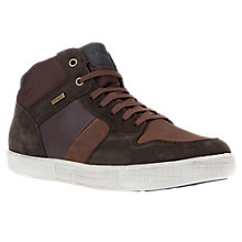 Buy Geox Taiki Amphibiox Waterproof ABX Hi-Top Trainers, Dark Coffee Online at johnlewis.com