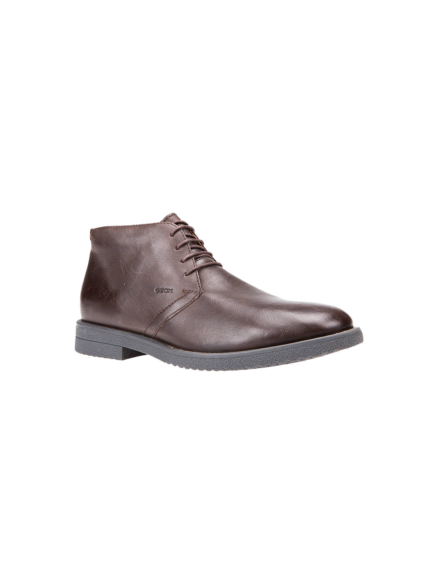 Geox Brandled Leather Desert Boots at
