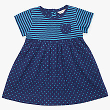 Buy John Lewis Baby Spot and Stripe Dress, Blue/Navy Online at johnlewis.com
