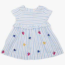 Buy John Lewis Baby Bird and Stripe Dress, Multi Online at johnlewis.com