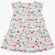 Buy John Lewis Baby Cat Print Dress, Multi Online at johnlewis.com