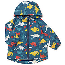 Buy John Lewis Baby Dino Print Jacket, Navy/Multi Online at johnlewis.com