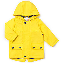 Buy John Lewis Baby Hooded Mac, Yellow Online at johnlewis.com
